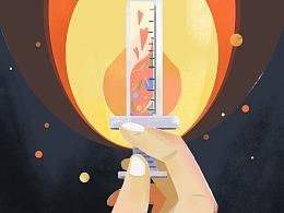 武汉加油|中国校园文学 公益插画展