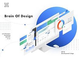 Brain of design 数据可视化后台页面