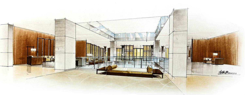 马克笔室内手绘表现|空间|室内设计|liguotao - 原创