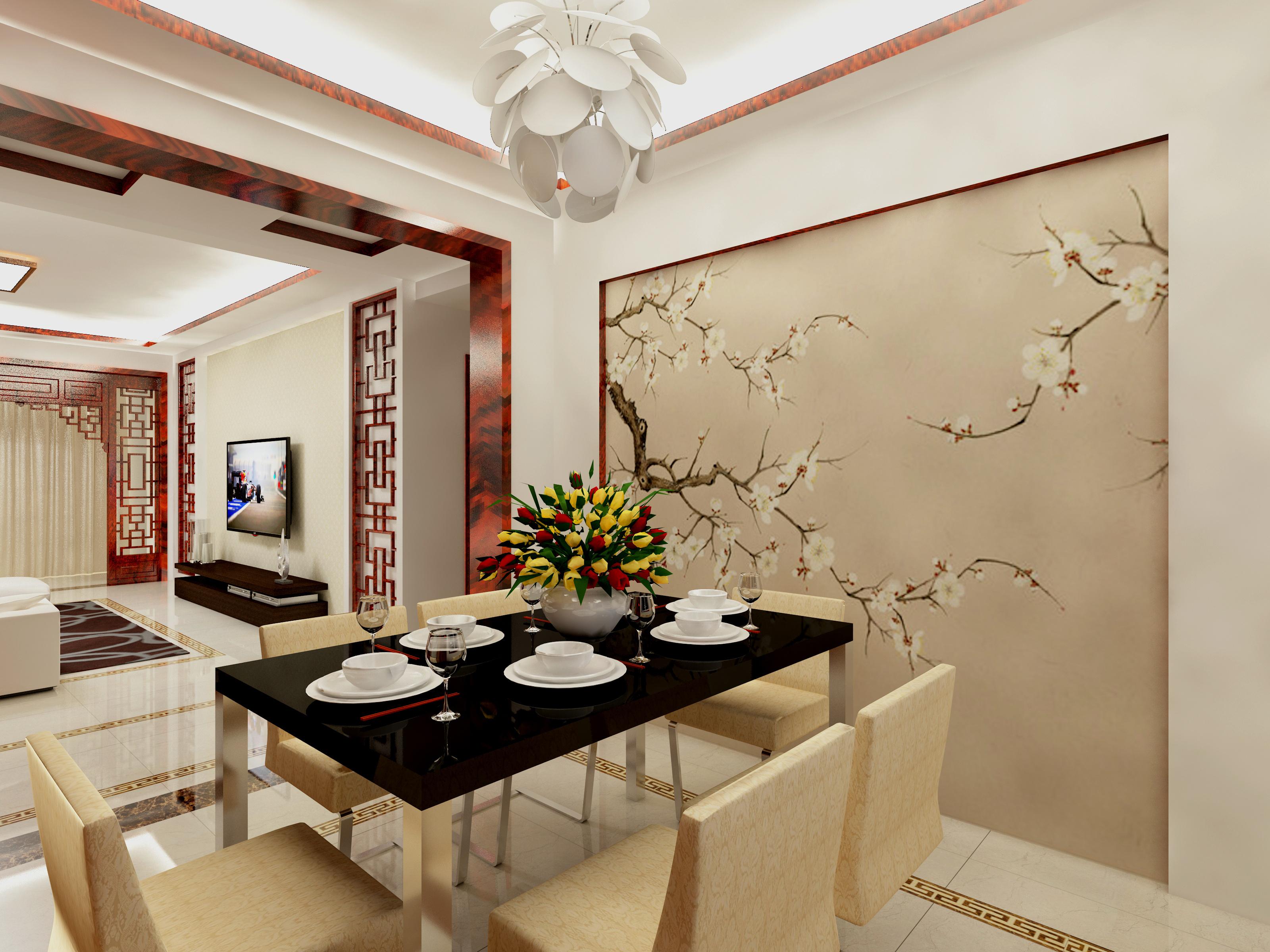 新中式装修设计效果图|空间|室内设计|路飞的飞