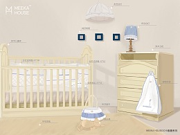 《婴儿房概念插画5》