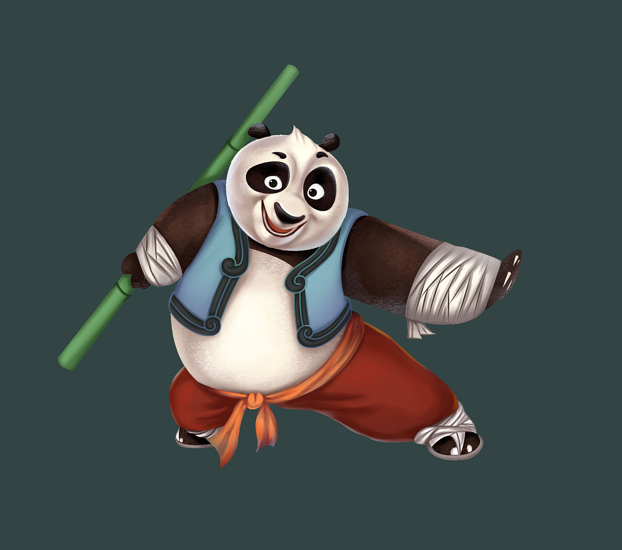 卡通熊猫壁纸大全 可爱卡通熊猫