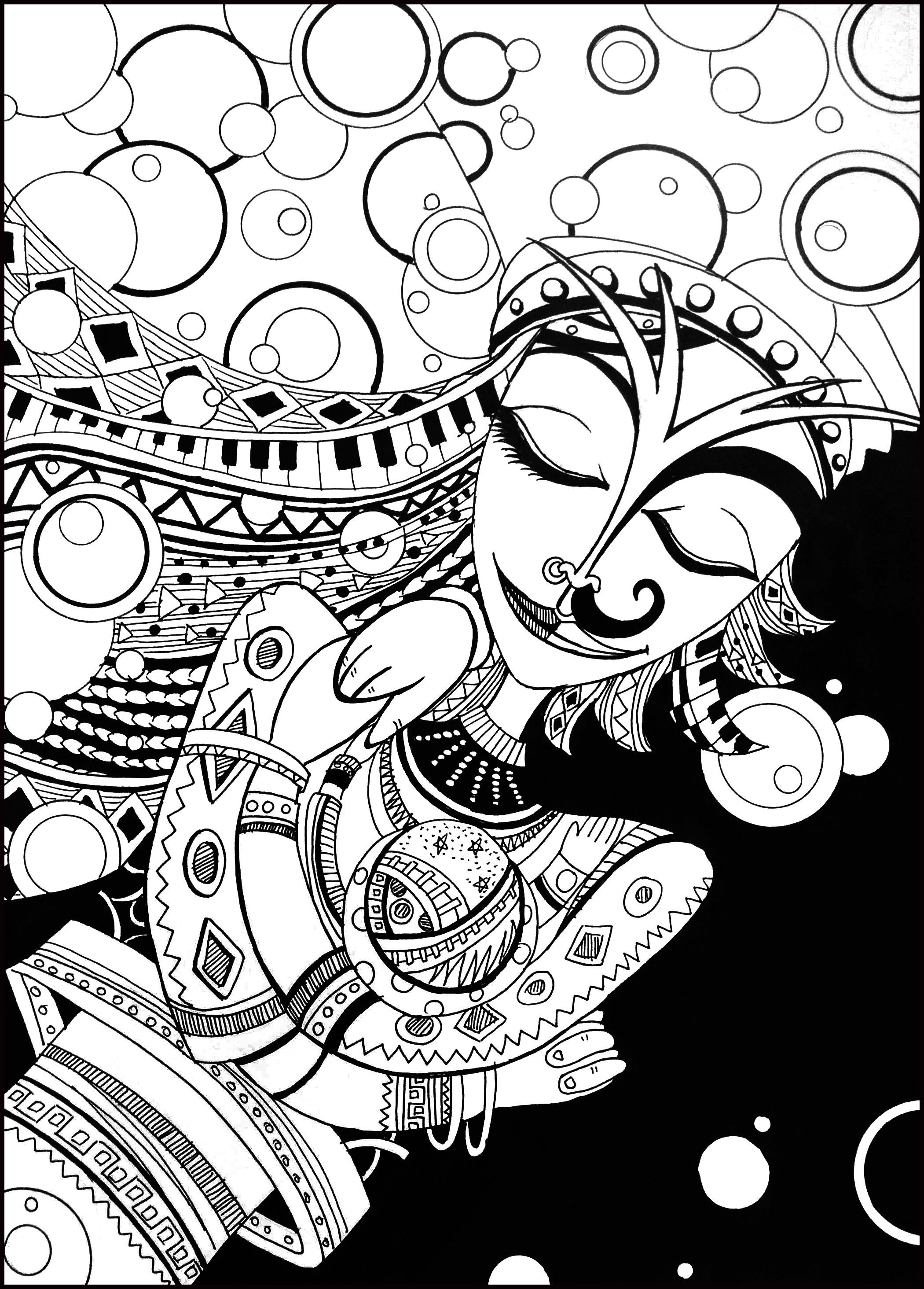 手绘黑白插画|插画|插画习作|沙拉番茄酱 - 原创作品