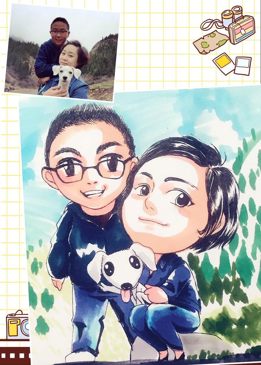 马克笔手绘q版头像|肖像漫画|动漫|秋山丶