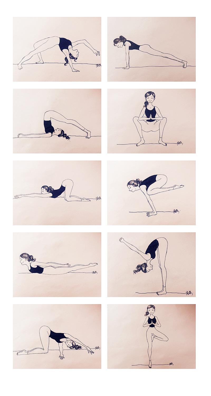 手绘瑜伽-临摹
