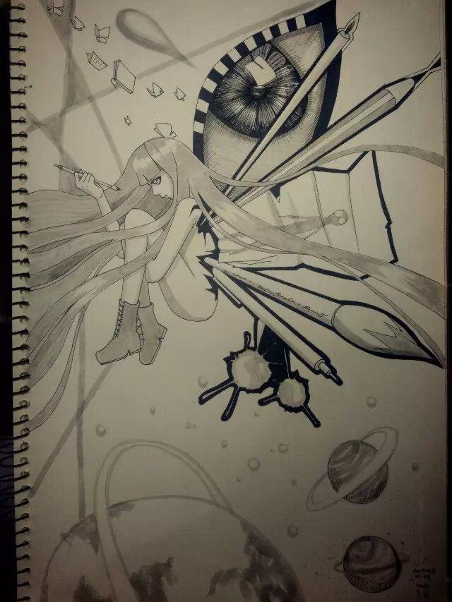 动漫 手绘 黑白|单幅漫画|动漫|罗蕊蕊