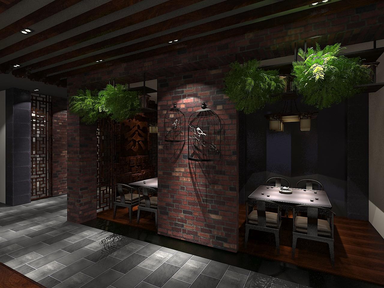 四十平梯形理发店室内设计图展示图片