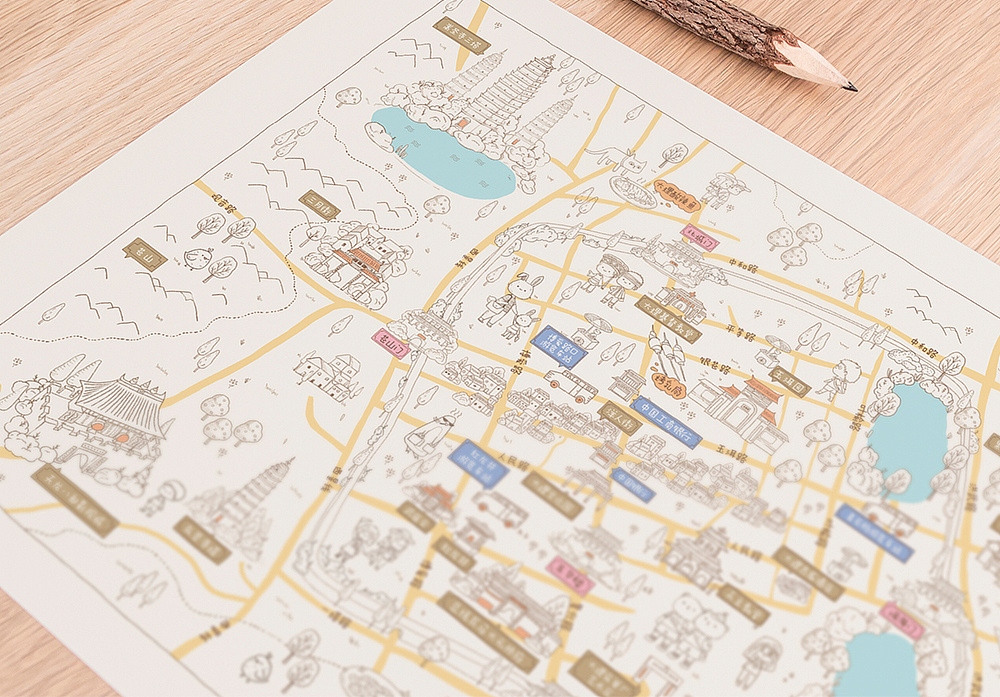 手绘地图-大理