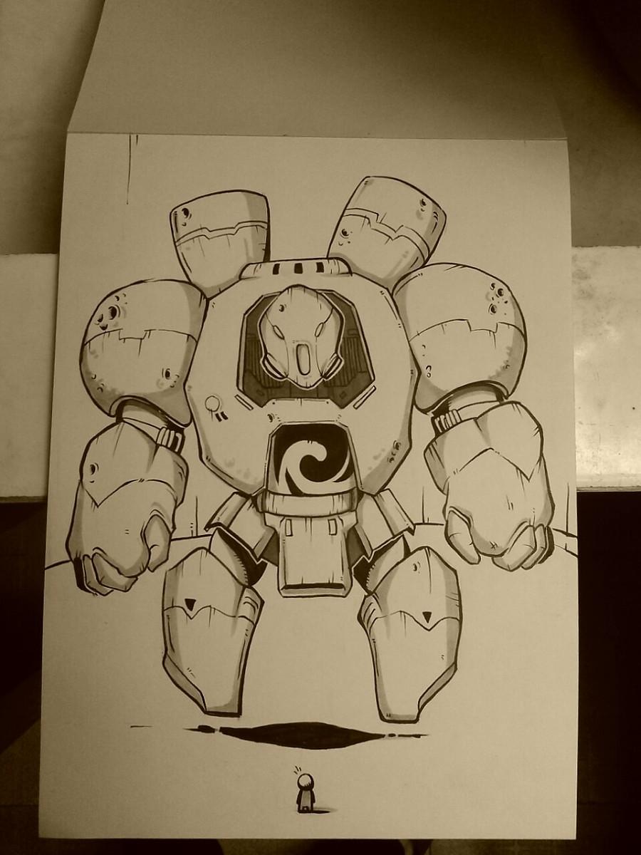 一个机器人