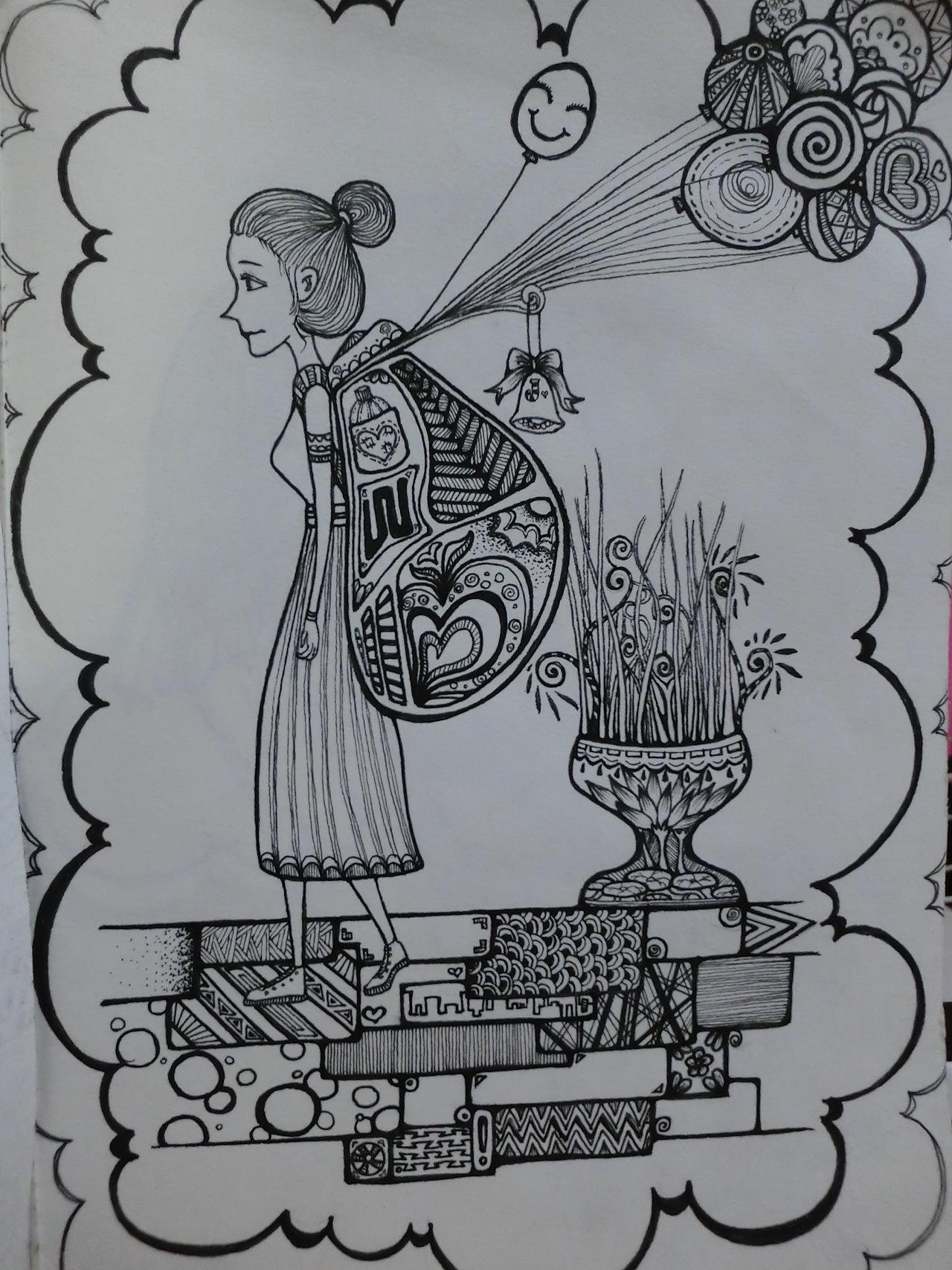 儿童画 简笔画 手绘 线稿 1280_1707 竖版 竖屏