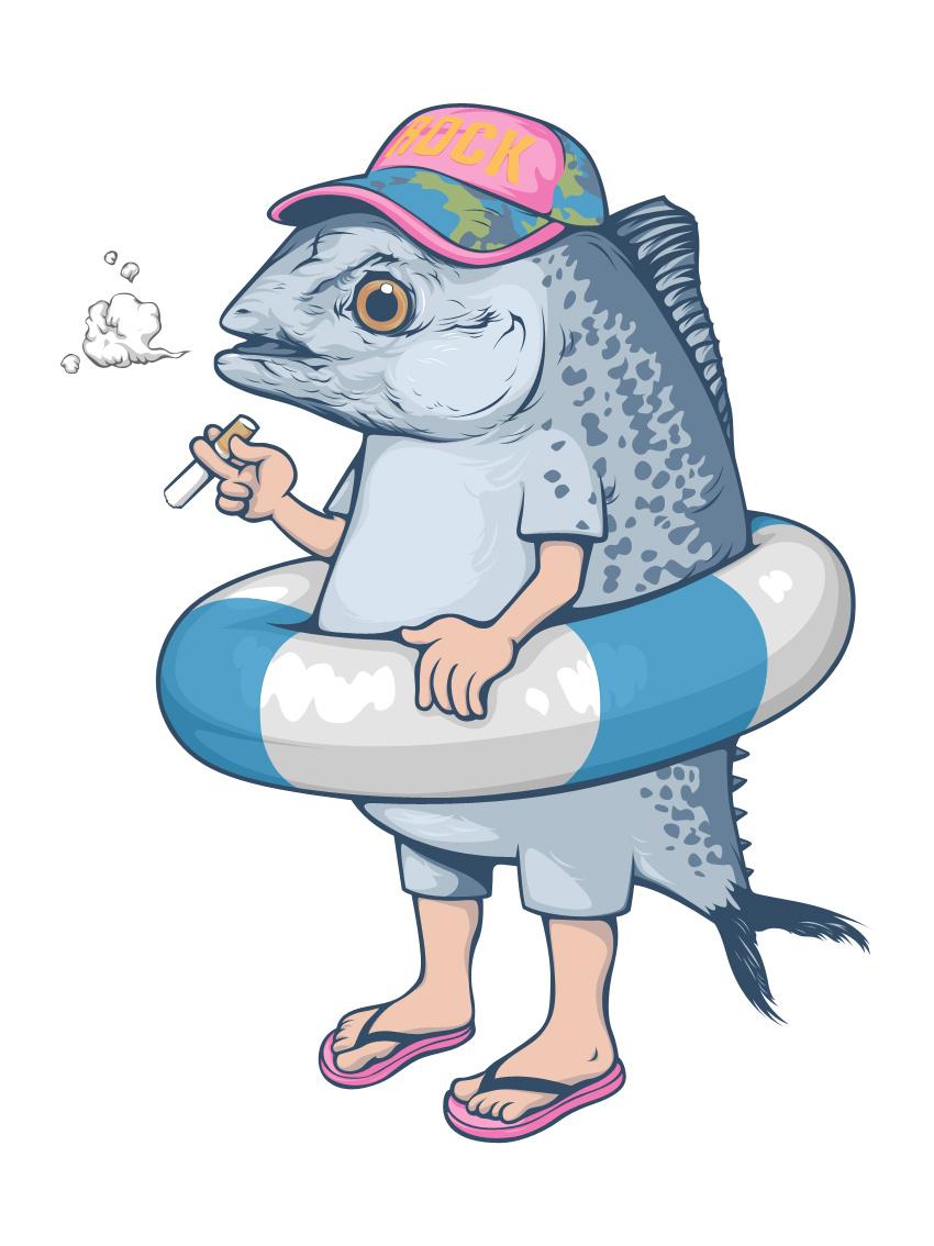 卡通鱼二维码