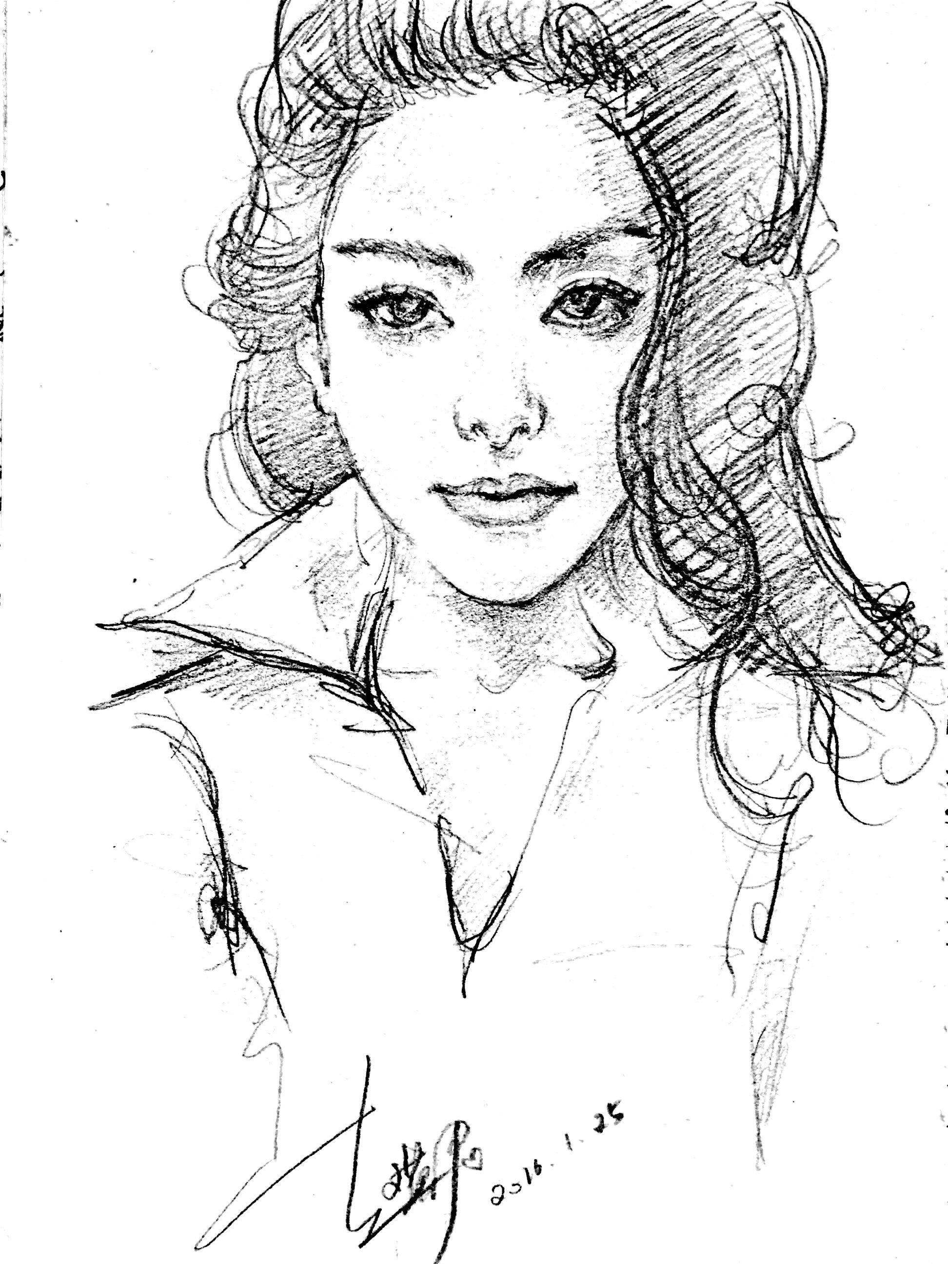 手绘线稿风景人物 纯艺术 钢笔画 hazel君君 - 原创