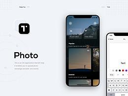 Text on Photo - APP Design