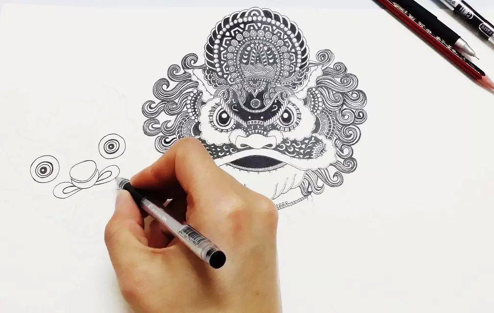 龙凤戒指手绘设计图
