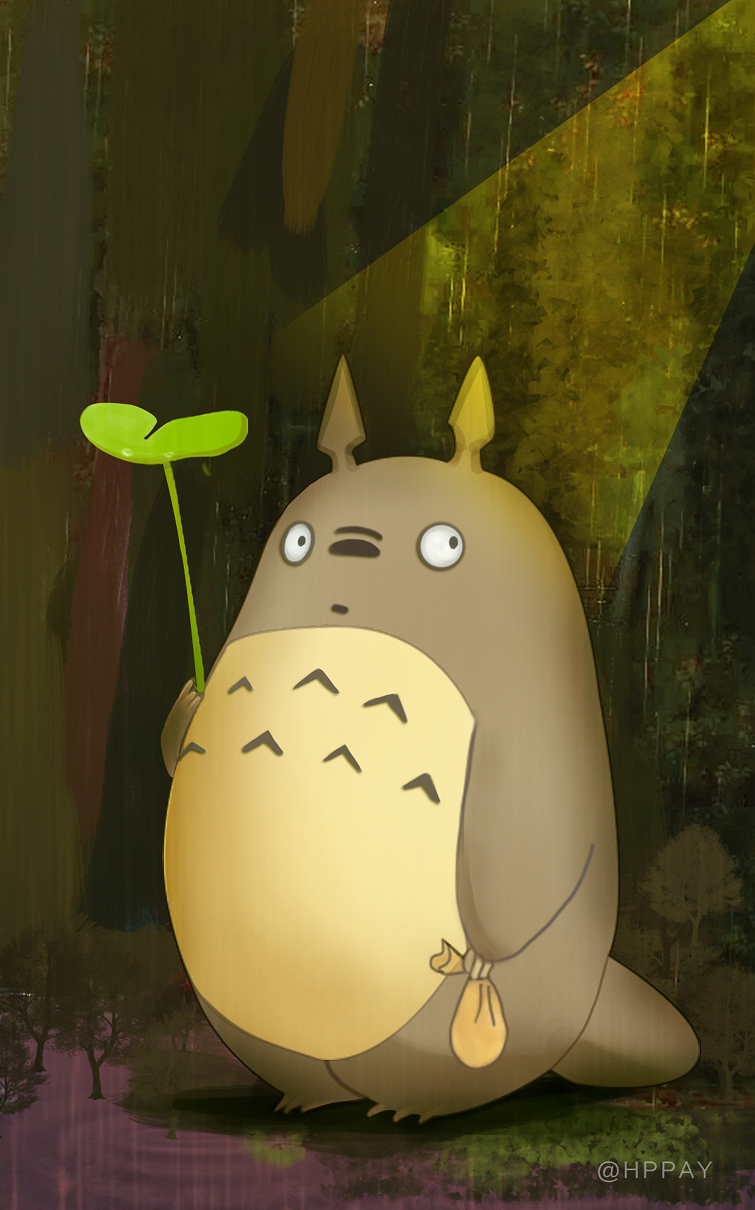 手机壁纸可爱卡通龙猫图片展示