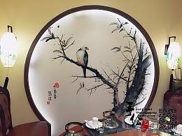 哈尔滨那年印象概念火锅店墙绘彩绘丨哈尔滨艺谷墙绘