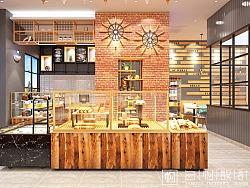 蛋糕店设计|河南信阳一麦之秋蛋糕店装修设计