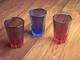 彩色渐变空杯