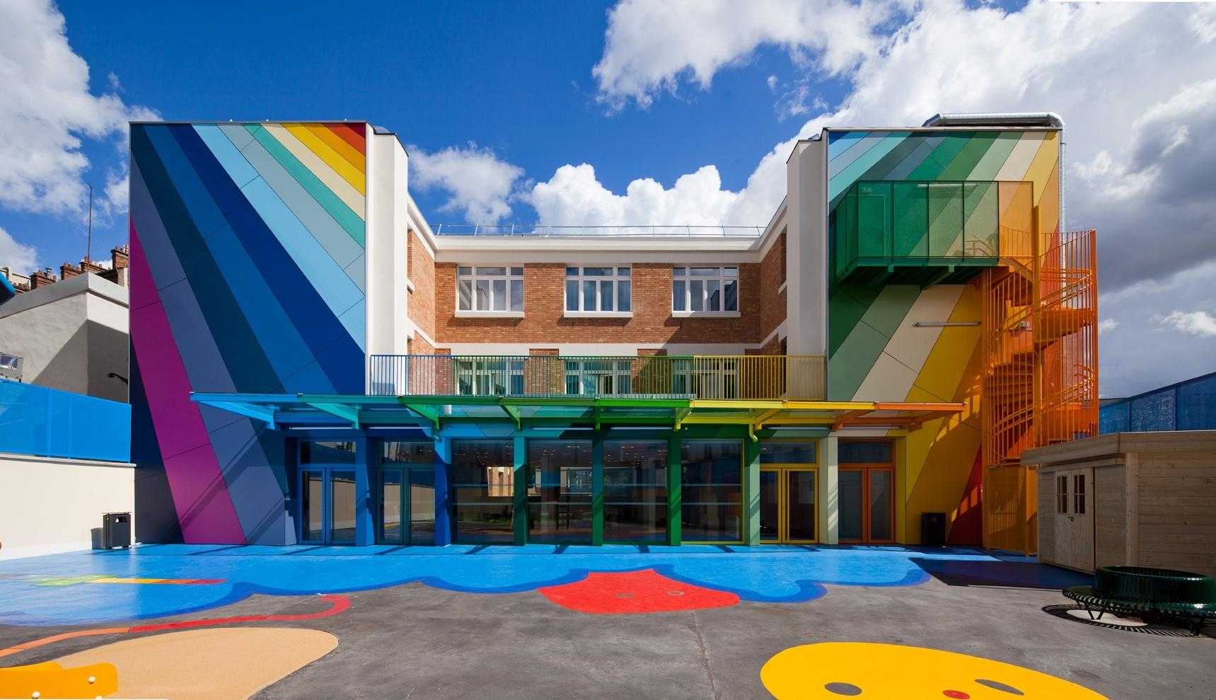 巴黎ecole maternelle pajol幼儿园图片