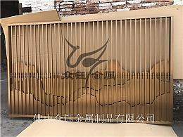 不锈钢山峦背景墙 售楼处前台山峦背景墙造型屏风