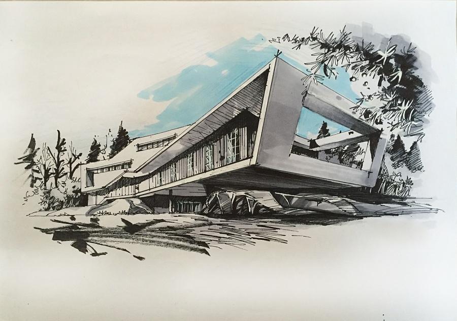 建筑手绘作品集|建筑设计|空间|fengfan1 - 原创设计
