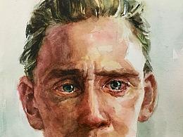 """""""比抖森更悲伤""""—水彩绘画过程"""