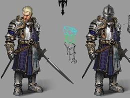 中世纪骑士角色设计