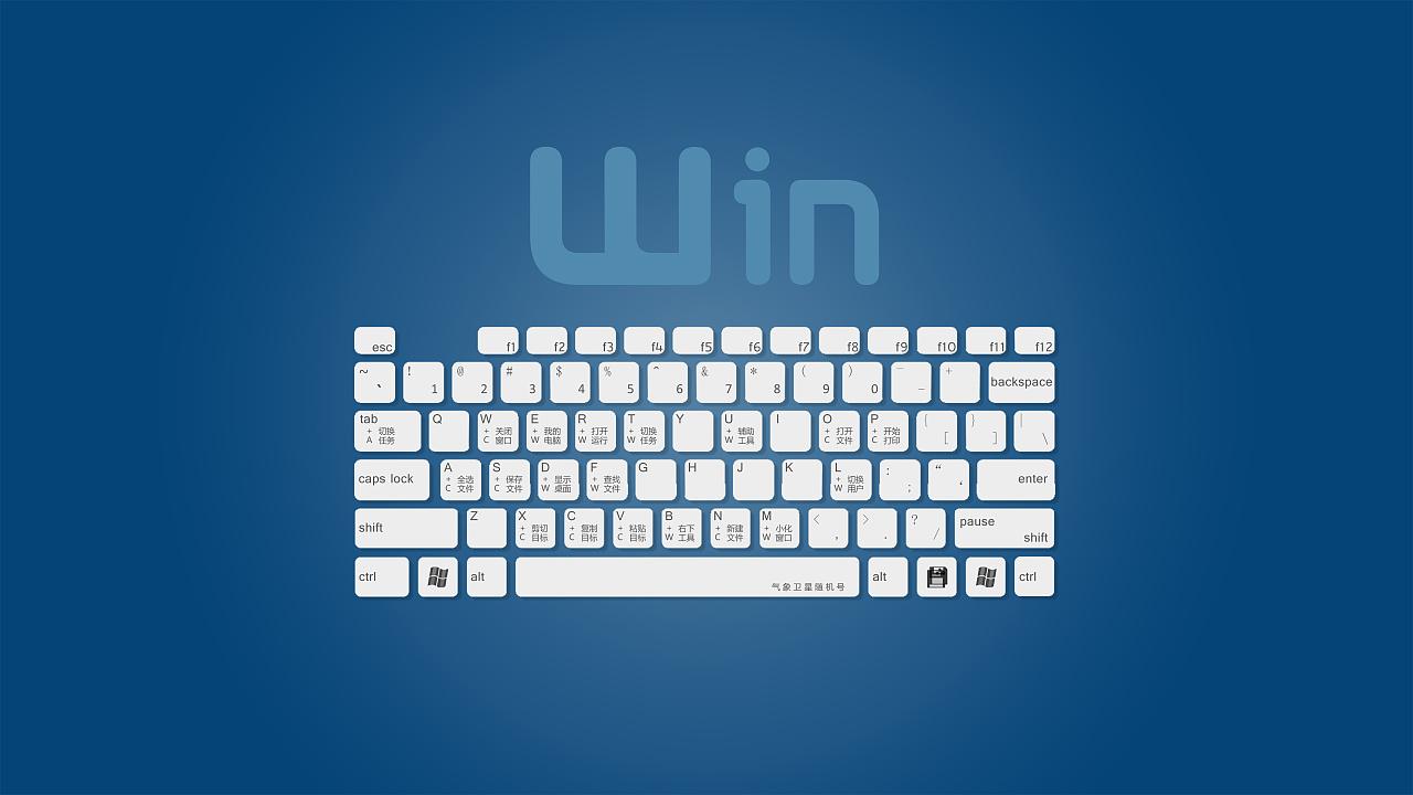 Windows 快捷键_windows快捷键键盘壁纸 微软|平面|品牌|气象卫星随机号 - 原创作品 ...