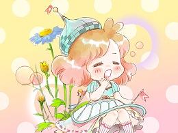 花和少女 小麦咖啡