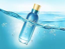 化妆品摄影修图合成-海洋