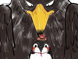 没见过世面的鹰,连一只山雀都吃不到嘴里