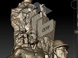 斑马cg浮雕