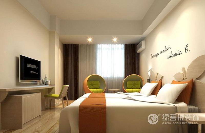精品主题酒店设计 橙子酒店装修设计案例