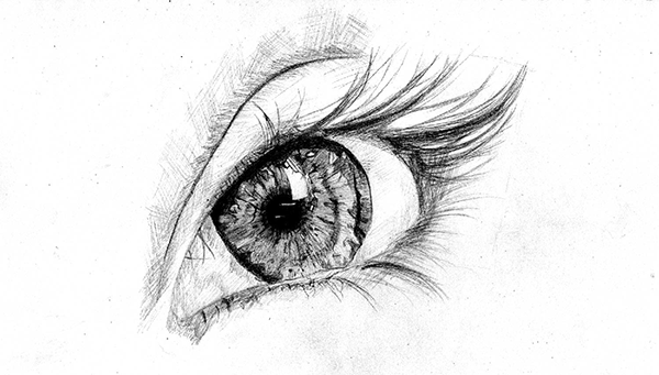 素描练习之眼睛|素描|纯艺术|rambohh图片