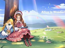 爱丽丝梦游仙境绘本插图