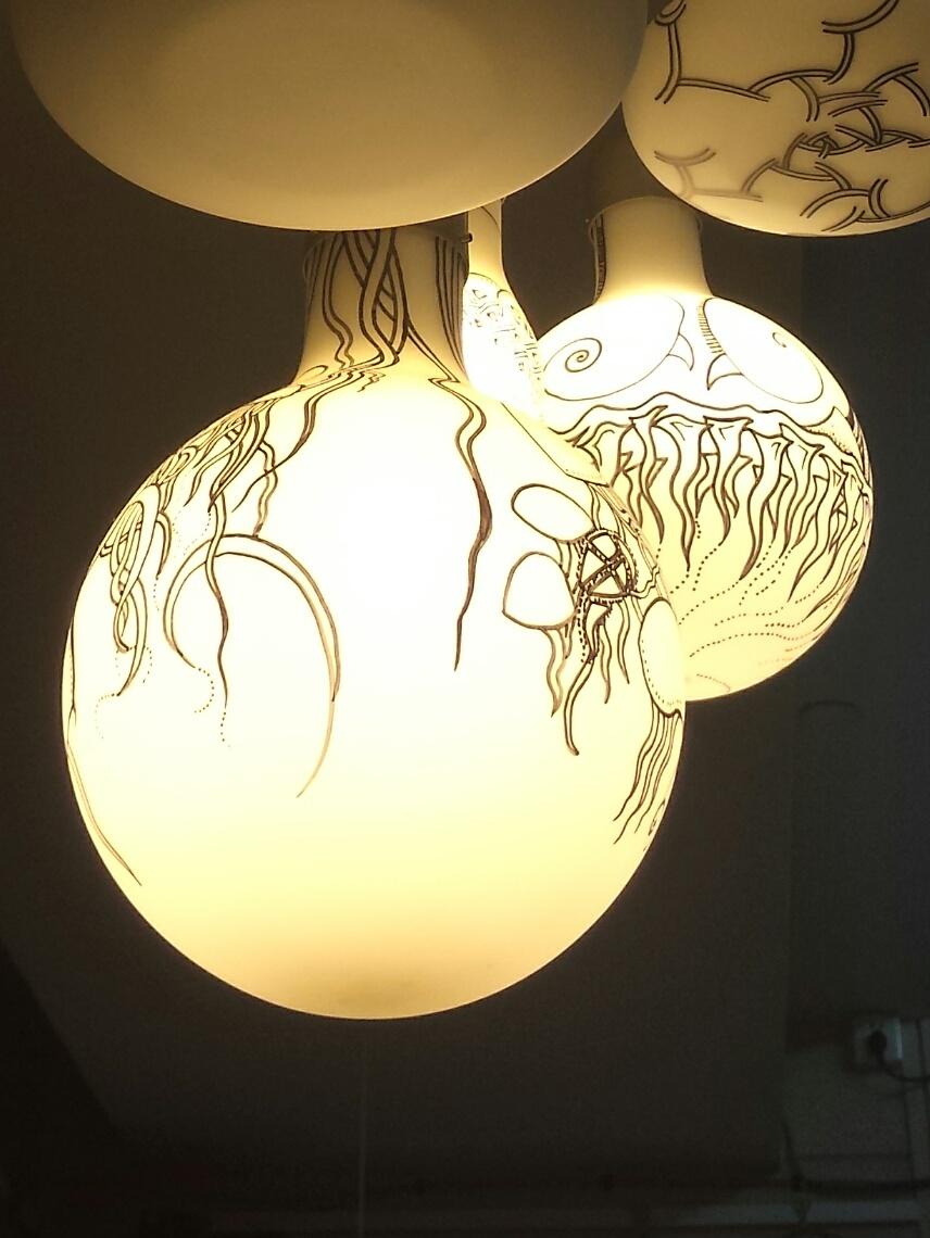 麦平灯饰手绘