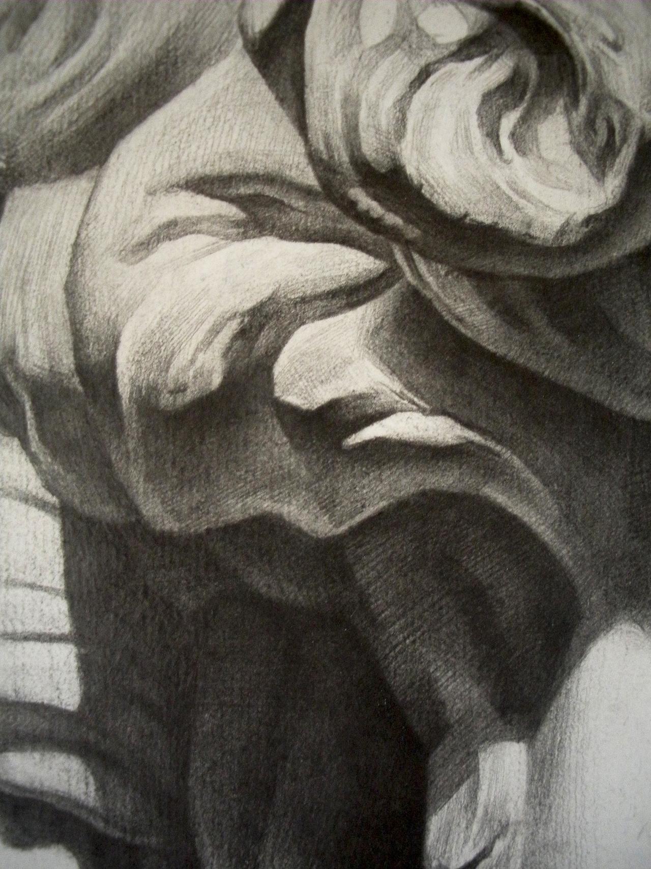 大卫石膏像 铅笔素描图片