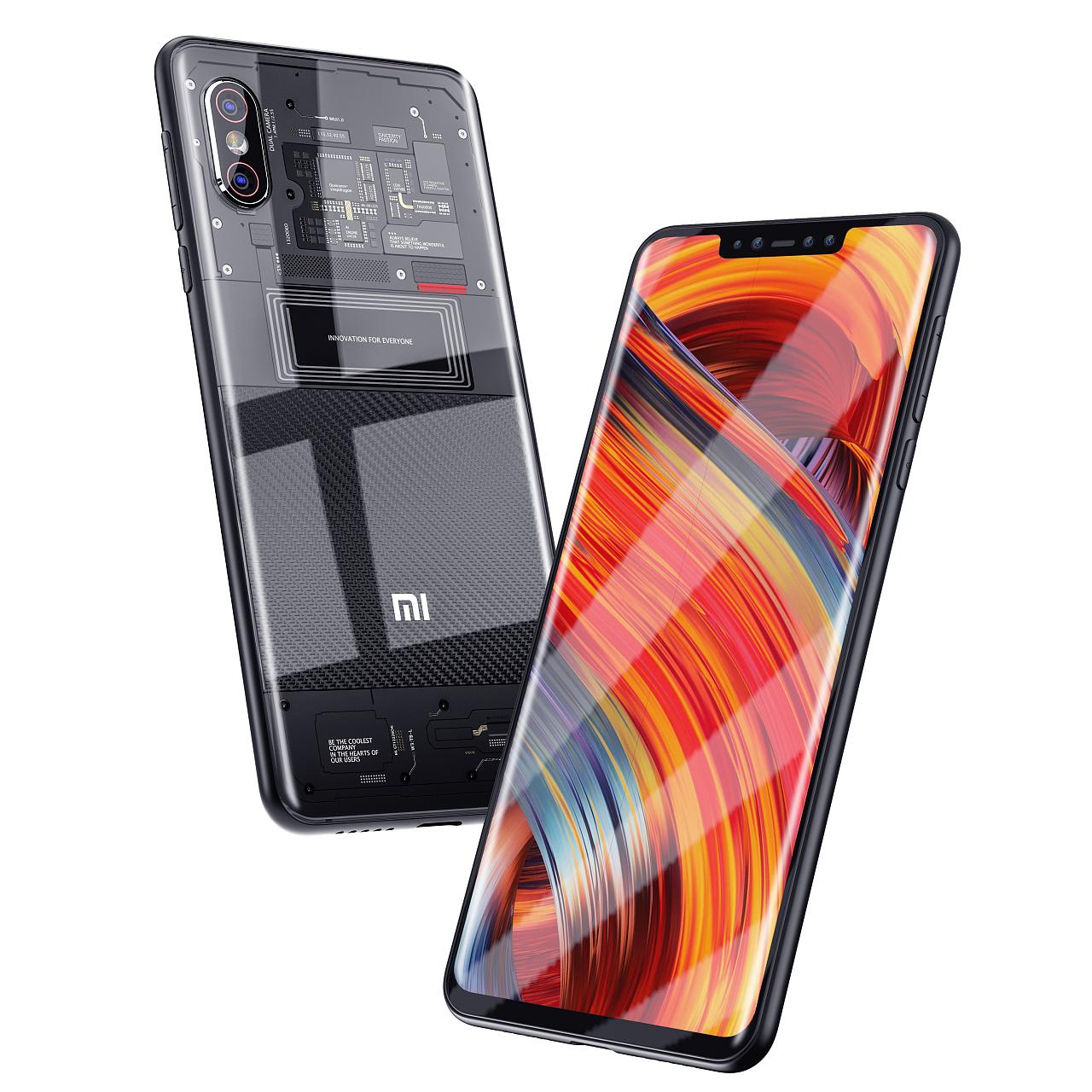 小米8探索版+透明 玻璃手机壳