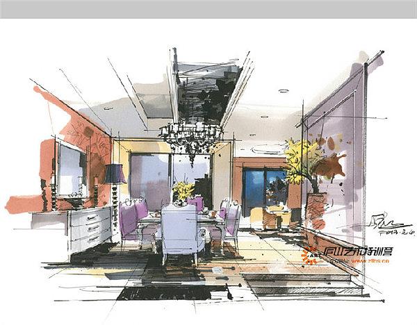 庐山特训营陈红卫老师室内手绘作品