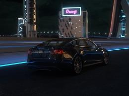驶入未来 未来风格 赛博朋克 城市 汽车