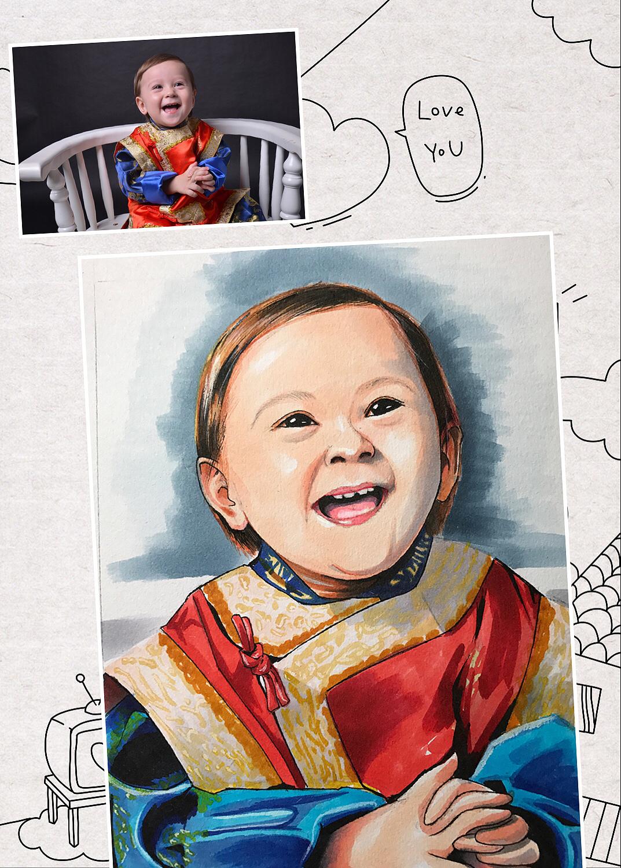 马克笔玩起来!|动漫|肖像漫画|秋山丶 - 原创作品