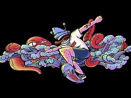 #寻找VANS艺术家#鲨拉酱与章保罗