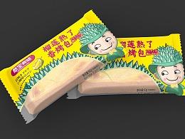 榴莲味烤包包装设计