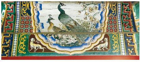 金琢墨苏画是苏式彩绘中最华丽的一种,用金量大,包袱内的画面很图片