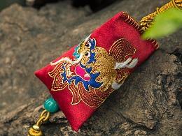 王的手创 端午手绣金龙香囊