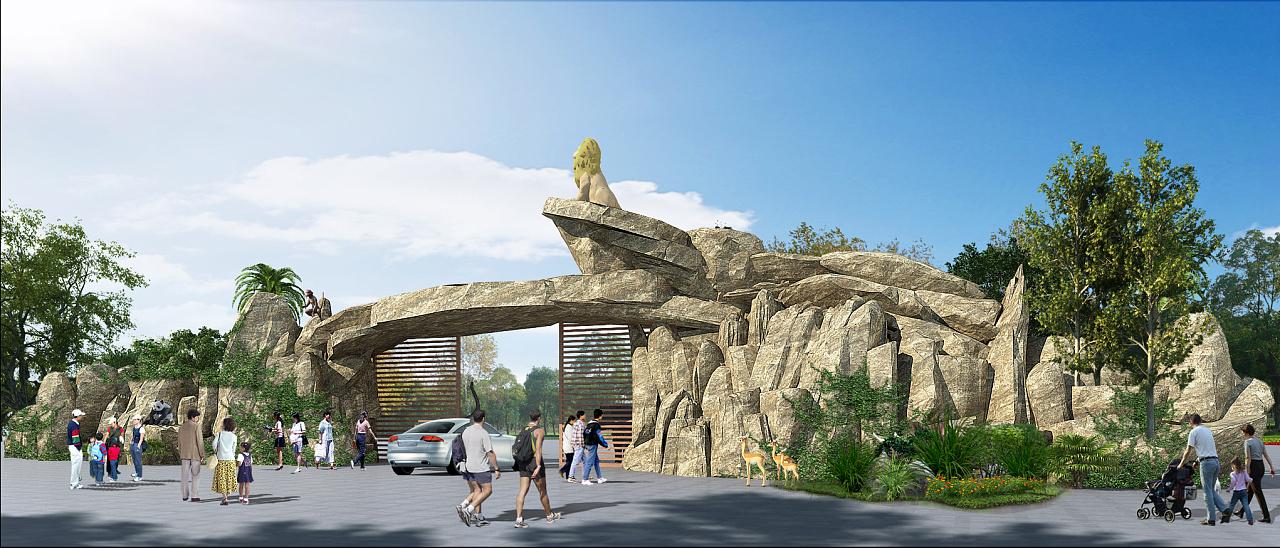 一个动物园设计|三维|建筑/空间|九层之台 - 原创作品