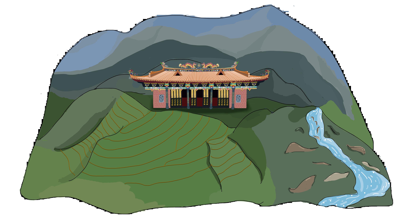 潮州凤凰镇旅游手绘地图