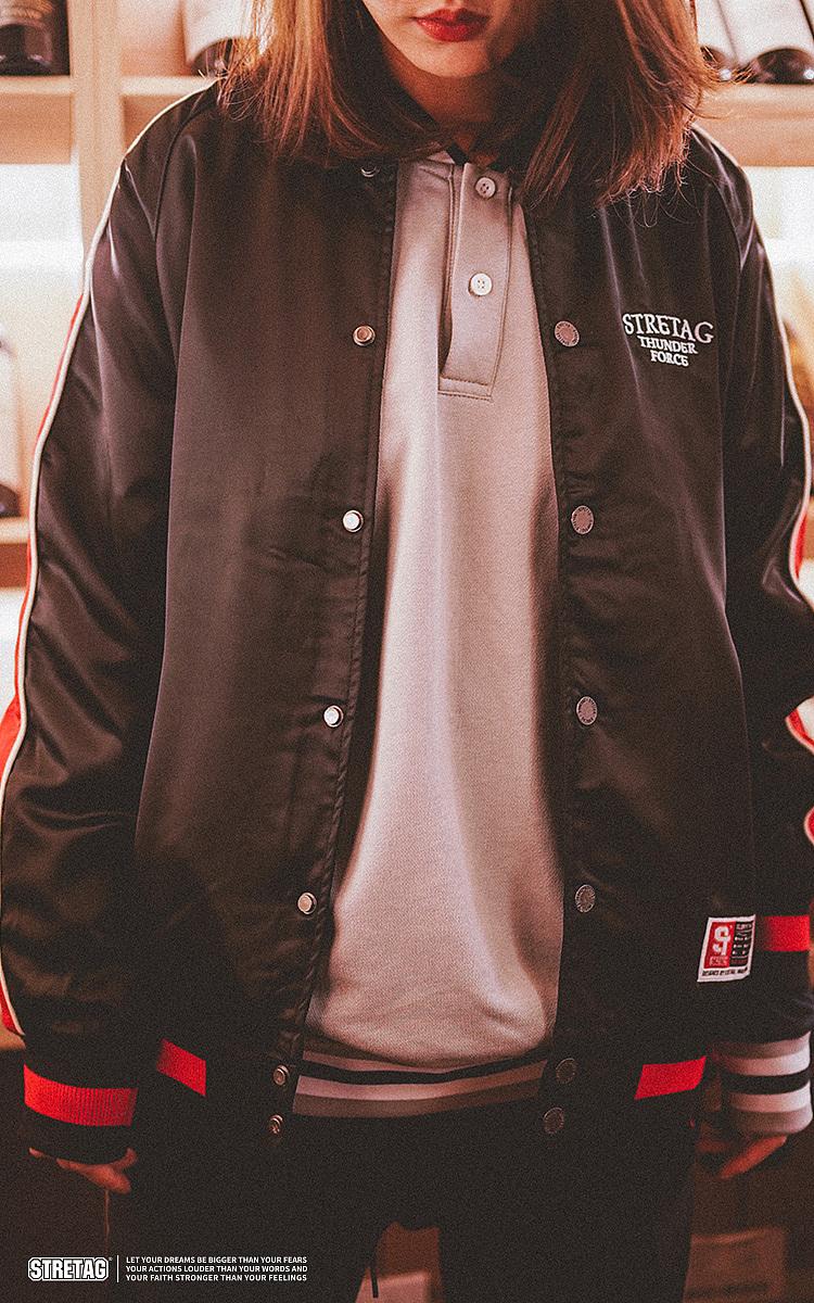 STRETAG2019冬季国潮拼接撞色夹克衫棒球服休闲外套