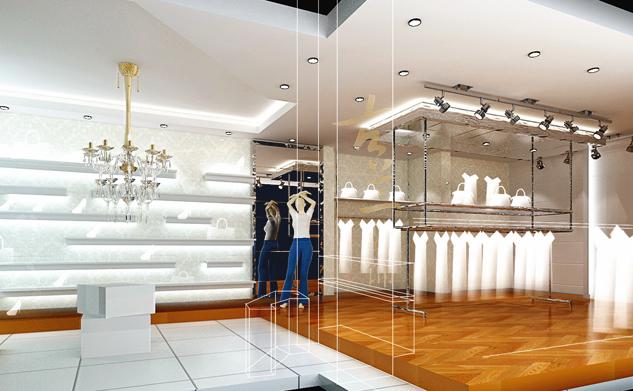 金沙服装店——华阳服装店装修|华阳服装店设计|室内