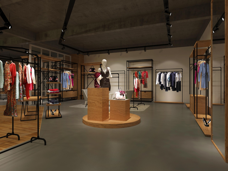 服装展厅|空间|展示设计 |彦狼 - 原创作品 - 站酷